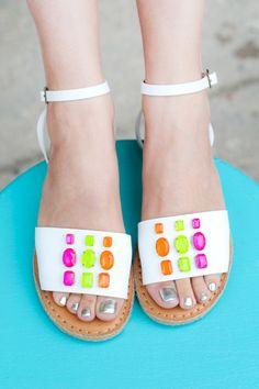 MY DIY | Gem Sandals