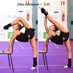 Dina AVERINA (Russia) ~ Warming Up @ World Cup Pesaro-Italy2017/08/31   Photographer Oleg Naumov (Russia). Rhythmic Gymnastics Training, Gymnastics Flexibility, Sport Gymnastics, Dina Averina, Fitness Goals, Fitness Tips, Gymnastics Photography, Dance Moms Girls, Best Weight Loss