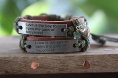 Love Is The Key Awareness Charm Bracelet by DlightedJewelry  #tcs #thecraftstar