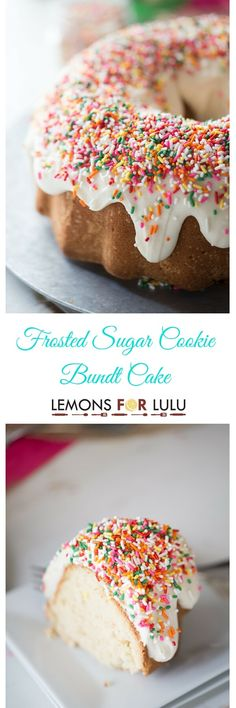 Frosted Sugar Cookie Bundt Cake - Lemons for Lulu - Food and Recipe Blog