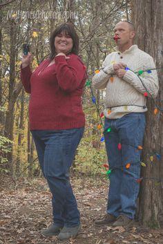 husband and wife fun christmas photos