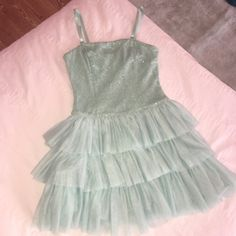 b862eb810a Beautiful Forever 21 mint green ruffle and sequin dress! Perfect for  homecoming or maybe even