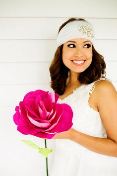 Giant Paper Flower Large Pink Paper Rose Bridal by FioriBelle