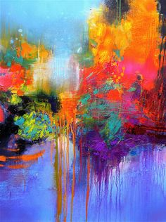 Gérard Stricher. Abstract. Painting. #art #summer #bright #colors