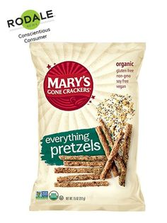 Most pretzels are glorified empty calorie bread sticks. But Mary's Gone Crackers is crazy enough to make a pretzel rod that has 3.5 grams of fiber.