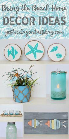 Bring the Beach Home Decor Ideas: Add some nautical decor to your space for summer! beachy | nautical | beach | driftwood | starfish | seahorse | decor