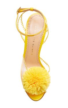 Charlotte Olympia Pom PVC and Patent-Leather Sandals