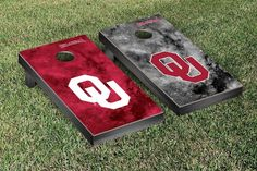 Reach for the Stars Oklahoma University Sooners Galaxy Cornhole Game
