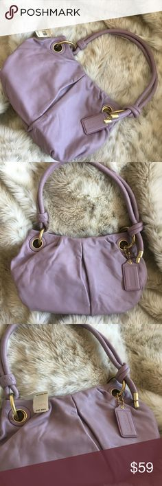 ✨ Coach Parker✨ Small Hobo Purse NWT Rare & Hard to Find Brand New Coach Parker Small Hobo bag in Lavender. Buttery soft leather makes you want to find an outfit to wear with this gem👜🎁🎀🛍 Coach Bags Hobos Coach Purses, Coach Bags, Fashion Design, Fashion Tips, Fashion Trends, Hobo Bag, Soft Leather, Gem, Lavender
