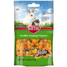 No matter what kind of super spiffy pet products you need, we've got you covered.  Here we have: healthy papaya treats for you guinea pig or bunny!