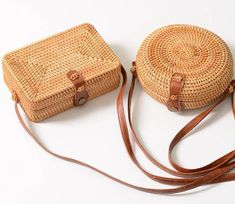 2018 Beach Bag Box Summer Rattan Bolsa Handmade Woven Bolsos Mujer Bali Bag Circle Bohemia Handbag Round Straw Bags for Women Crossbody Bags For Travel, Mini Crossbody Bag, Rattan, Round Straw Bag, Bali, Buckle Bags, Bags 2018, Basket Bag, Summer Bags