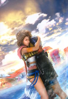 Yuna and Tidus from Final Fantasy X