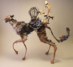 Fantasy Creatures, Mythical Creatures, Animal Sculptures, Sculpture Art, Le Sphinx, Arte Horror, Monster Design, Arte Popular, Human Art