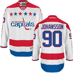 Authentic Marcus Johansson White Men s NHL Jersey   90 Washington Capitals  Reebok Third a5a6af32f