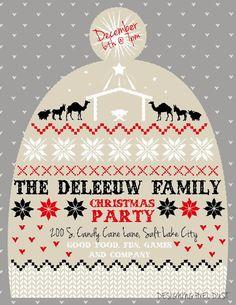 Pixel Dust Graphic Design Blog: Knitted Christmas Hat Poster/Invitation Design