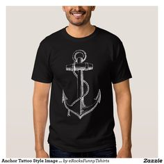 Anchor Tattoo Style Image Tee