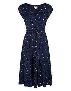 Scarlet Square Spot Print Dress
