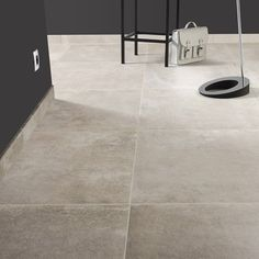 Carrelage sol et mur taupe effet pierre Chateau x cm Stone Flooring, Concrete Floors, Kitchen Flooring, Floor Design, Wall Design, Murs Taupe, Scandinavian Interior, Home Accents, Wall Tiles