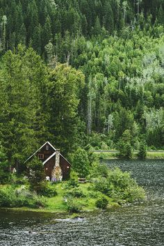 highway 1, seattle to banff. I love this setting! I love the old fashioned house with the chimney and the lake and the Washington trees rising behind it in majestic Washington fashion.