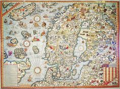 Map of Nordic countries and Baltia 1539
