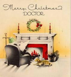Dear Doctor: Wishing you joy the season through, And hoping New Year holds for you Greater enjoyment, more success and ever-increasing happiness. Christmas Card Images, Old Fashioned Christmas, Christmas Past, Very Merry Christmas, Vintage Christmas Cards, Retro Christmas, Vintage Holiday, Christmas Colors, Xmas Cards