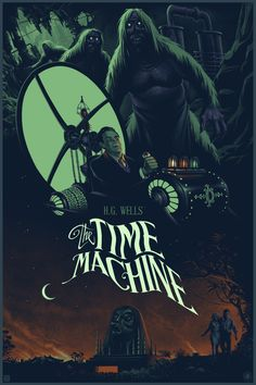 Best Film Posters : – Picture : – Description Julien Lois The Time Machine Movie Poster Release From Nautilus Prints -Read More – Classic Sci Fi Movies, Classic Movie Posters, Horror Movie Posters, Movie Poster Art, New Poster, The Time Machine Book, Time Machine Movie, Science Fiction, Fiction Movies