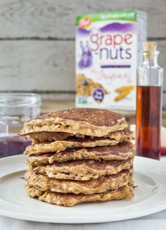 Recipe: Crunchy Oatmeal Pancakes with Grape-Nuts — Recipes from The Kitchn Sponsored by Grape-Nuts