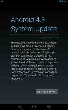 Update to Android 4.3