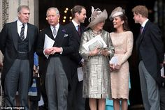 From left to right, Prince Andrew, Duke of York, Prince Charles, Prince of Wales, Prince W...