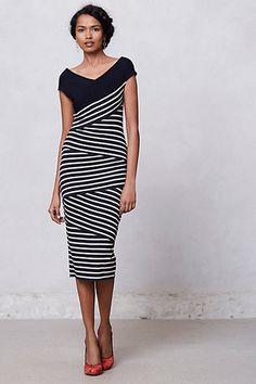 Frenchstripe Column Dress #anthropologie