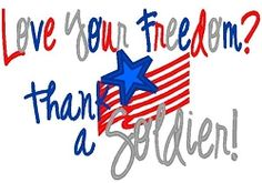 Love Your Freedom - 3 Sizes!   4th of July   Machine Embroidery Designs   SWAKembroidery.com Band to Bow