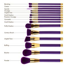 Gorgeous 15 Piece Makeup Brush Set - 15 Piece makeup brush set in 3 different colors - Cruelty free - Very soft and super dense brush fibers - Picks up makeup product easily - Included are brushes for