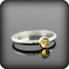 Citrine ring  recycled sterling silver ring with by junedesigns, $46.00