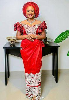 Amarachi & Femi's Inter-tribal Igbo – Yoruba Traditional Wedding African Lace Styles, African Lace Dresses, Latest African Fashion Dresses, African Print Fashion, African Dresses For Kids, Africa Fashion, African Prints, African Fashion Traditional, African Traditional Wedding Dress