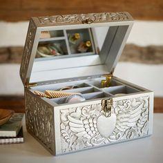 Junk Gypsy Heart with Wings Beauty Box