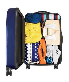 Organized packed suitcase