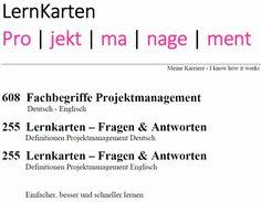 LernKarten - Projektmanagement Marketing, Porto, Author, Learning Methods, Note Cards, Project Management, Career