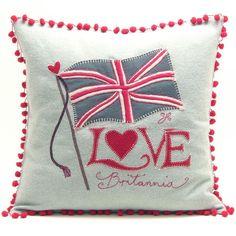 Jan Constantine Love Britannia Cushion | Prezola - The Wedding Gift List