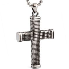 Stainless Steel fashion jewelry Gothic Cross Pendant necklace