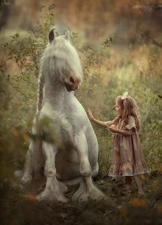 Friends by Anyuta Ontikova Dogs And Kids, Animals For Kids, Animals And Pets, Baby Animals, Cute Animals, Beautiful Horses, Animals Beautiful, Horse Photography, Fantasy Photography