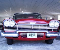 "Scott Edminster's postcard was chosen from approximately 40,000 entries to win ""Christine"" the fully restored 1958 Plymouth Sport Fury featured in the Columb..."