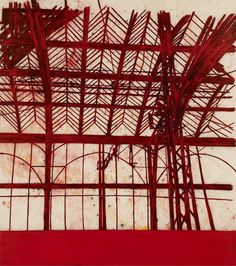 Tony Bevan Red Interior, 2011 charcoal, pigment and acrylic on canvas 108 x 96 in. x cm) Private collection Modern Art, Contemporary Art, Architectural Features, Architectural Presentation, Architectural Models, Architectural Drawings, A Level Art, Red Interiors, Urban Landscape