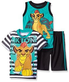 Disney Boys' 3 Piece Lion Guard Kion T-Shirt Muscle Tee and Shorts Set, http://www.amazon.com/dp/B019U0XFO8/ref=cm_sw_r_pi_awdm_htKoxb081VCT8
