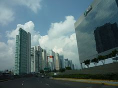 Skyline of Mexico City's upscale Santa Fe neighborhood