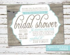 rustic country wedding shower ideas | Country / Rustic Theme Bridal Shower Invitation by Meghilys