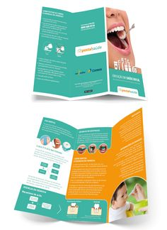 Folder para campanha de Saúde Bucal