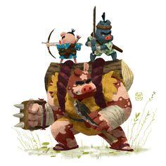 Three Pig, Gop Gap on ArtStation at https://www.artstation.com/artwork/WJ91v