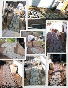 Walkway form Formed Concrete Walkway 2011 : Making access easier. Doggie approved! www.winkoservices.com Faux Stone Panels, Concrete Walkway, Outdoor Living, Outdoor Decor, Where The Heart Is, Backyard Ideas, Service Design, Exterior, Patio