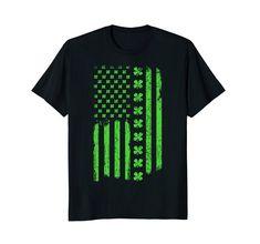 6e3f4fb1c7306 Amazon.com  St. Patrick s Day Irish American USA Flag Patty s Day Shirt