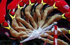 London 2012 Olympics Multiple Exposure Gymnastics Photos